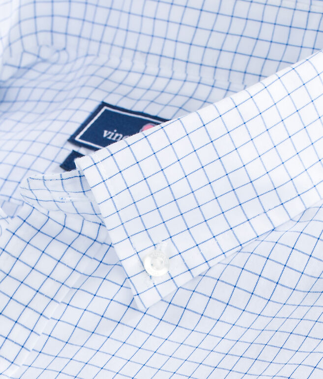 Navy Beach Check Classic Tucker Shirt
