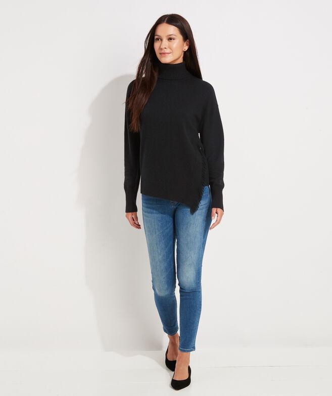 Fringe Turtleneck Sweater