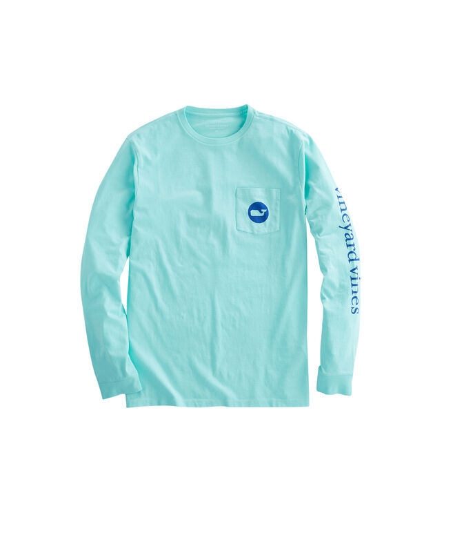 Long-Sleeve Whale Dot Pocket T-Shirt