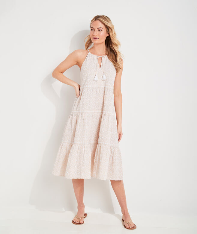 Day Lily Trapeze Tiered Midi Dress