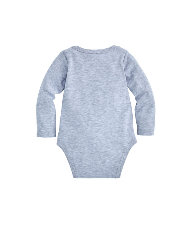 Baby Football Whale Long-Sleeve Bodysuit