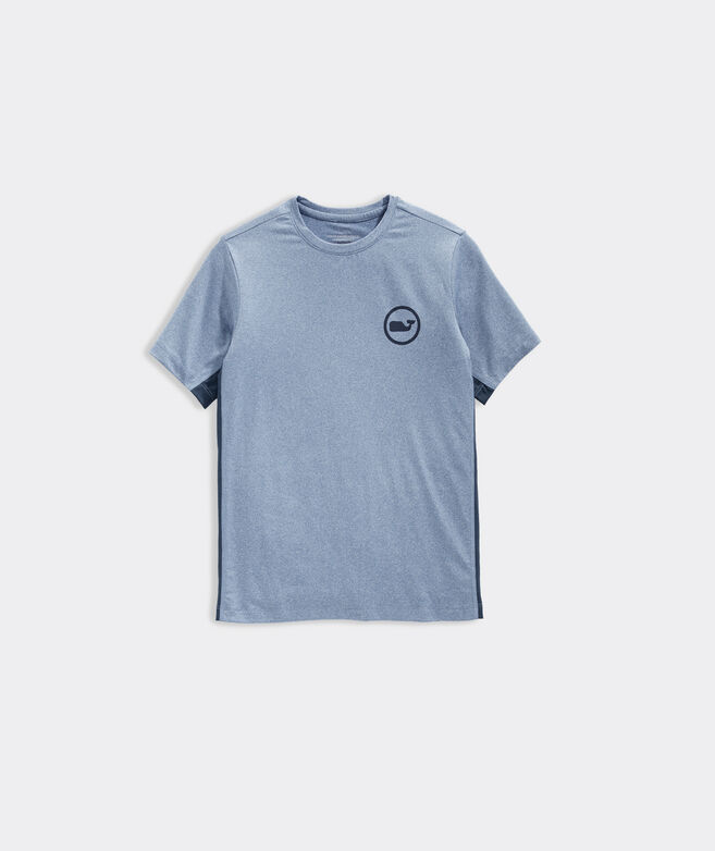 Boys' Tonal Whale Dot Short-Sleeve Performance Tee