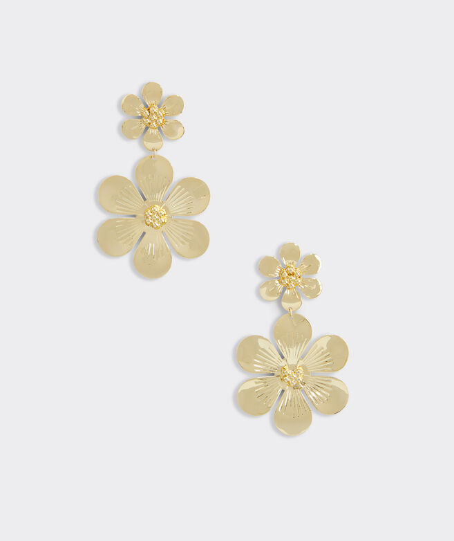 Allamanda Floral Gold Earrings