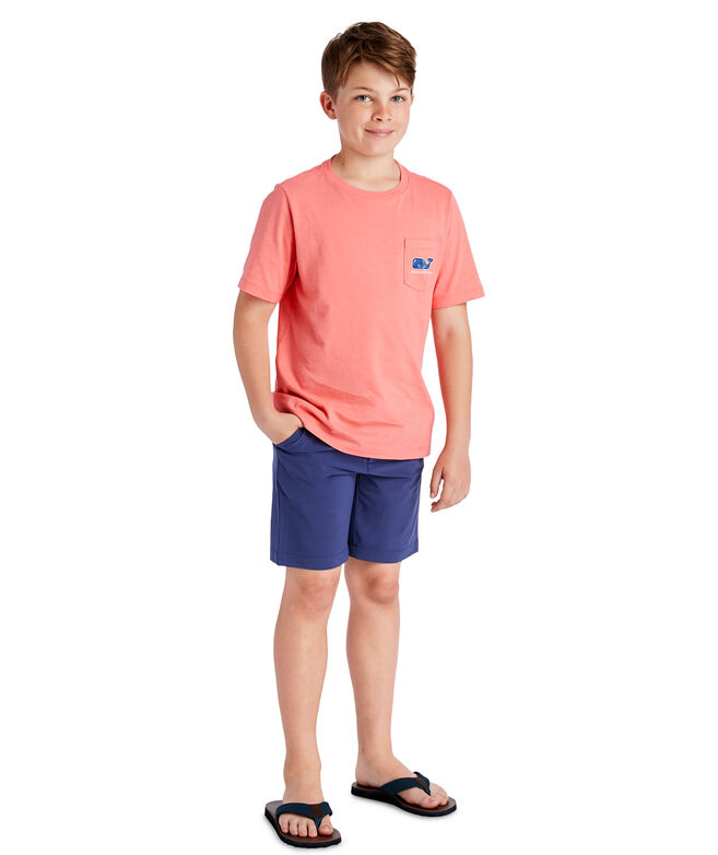 Boys Lobster Buoys Whale Fill Pocket T-Shirt