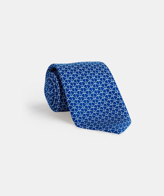 Golf Balls & Tees Geo Printed Tie