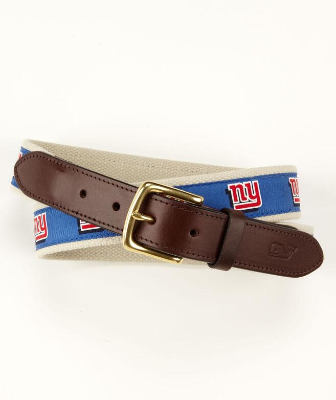 New York Giants Canvas Club Belt