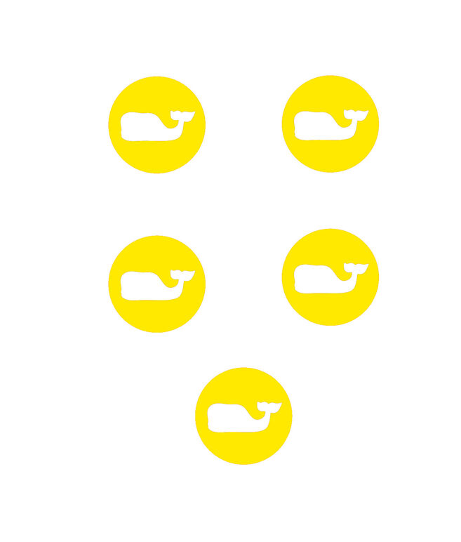 Whale Dot Stickers (Pack of 5)