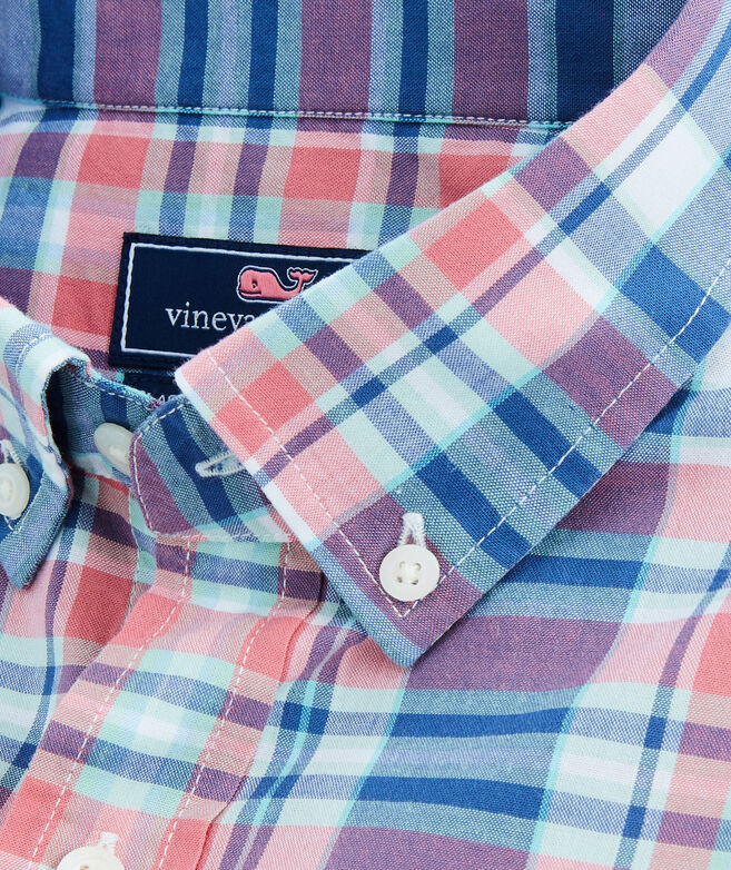 Classic Short-Sleeve Freeport Plaid Tucker Shirt