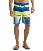 Neon Stripe Board Shorts