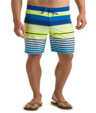 Neon Stripe Board Shorts