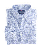 Linear Boat Print Slim Murray Shirt