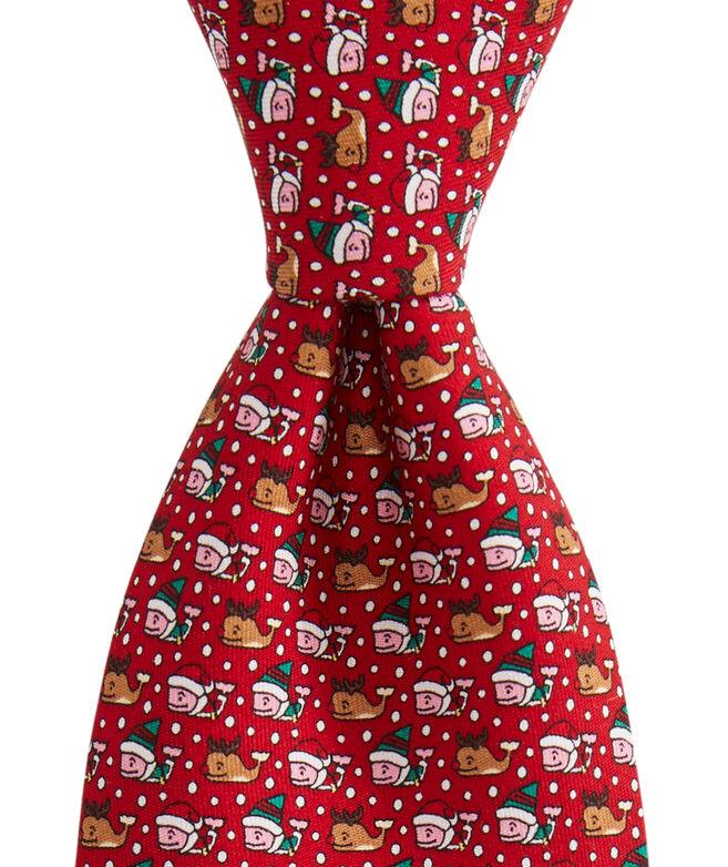 Boys' Santa's Helper Printed Tie