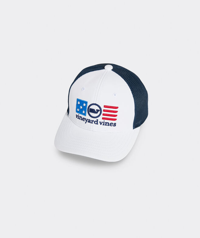 Boys' USA Whale Dot Trucker Hat