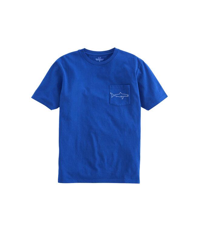 Simple Shark Short-Sleeve Pocket T-Shirt