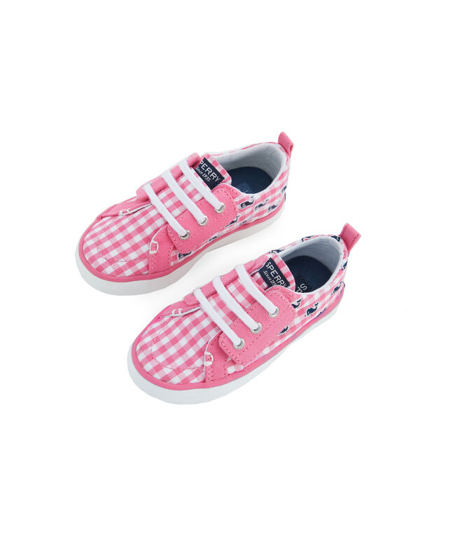 Little Kid's Sperry x vineyard vines Embroidered Whale Gingham Seaside Slip-On