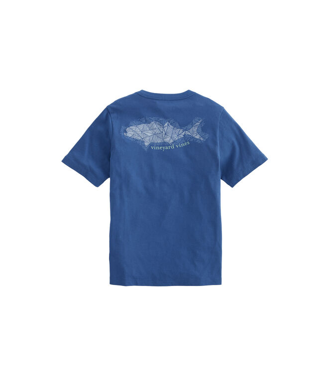 Boys Hatched Bluefish Pocket T-Shirt