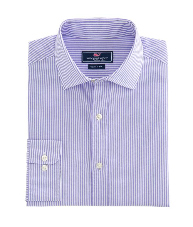 Striped Classic Fit Burgee Shirt