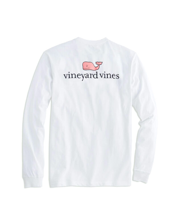 Mens T Shirts Long Sleeve Vineyard Vines Logo Graphic T