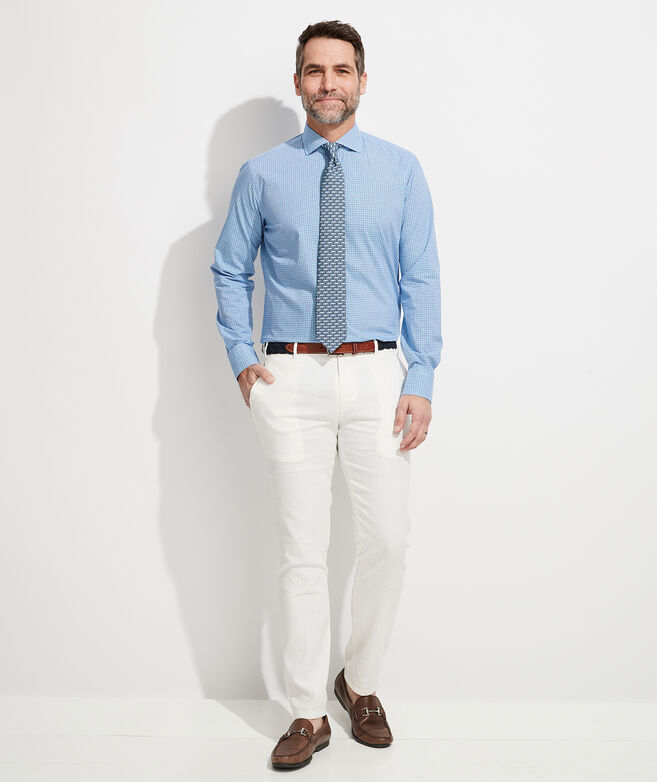 Italian Poplin Greenwich Button-Down Dress Shirt