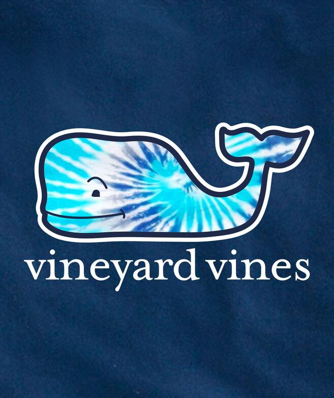 Blue Tie Dye Whale Fill Short-Sleeve Pocket Tee