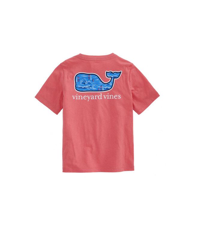 Boys Vineyard Scene Whale Fill Short-Sleeve Pocket T-Shirt
