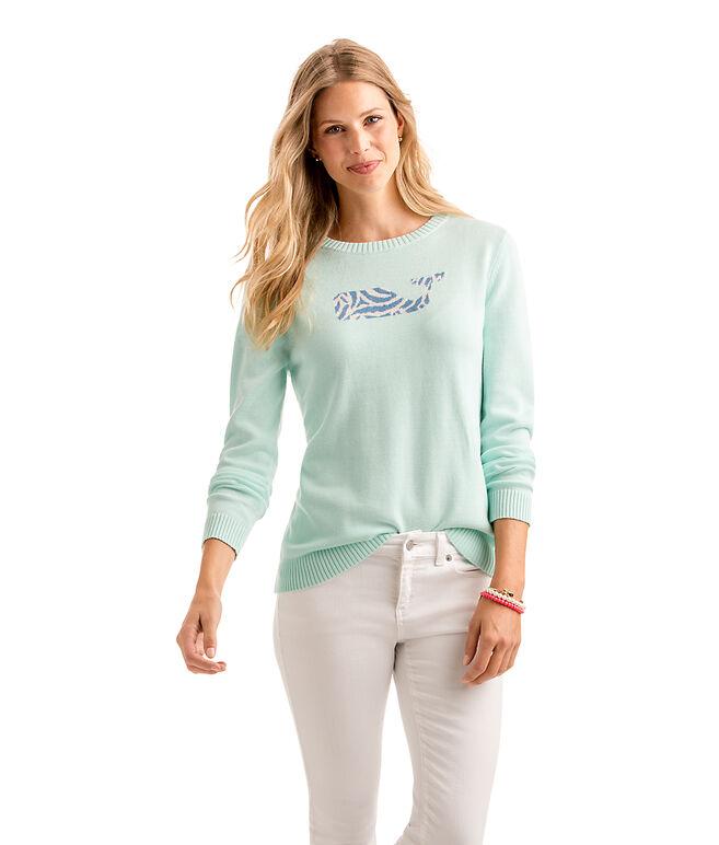 Zebra Whale Intarsia Sweater
