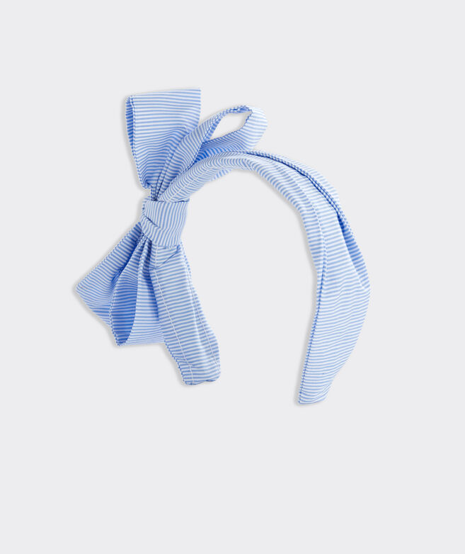 Kentucky Derby Striped Bow Headband