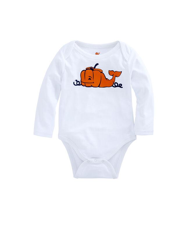 Baby Pumpkin Whale Onesie