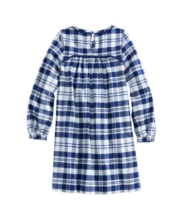 Girls Soiree Plaid Flannel Dress