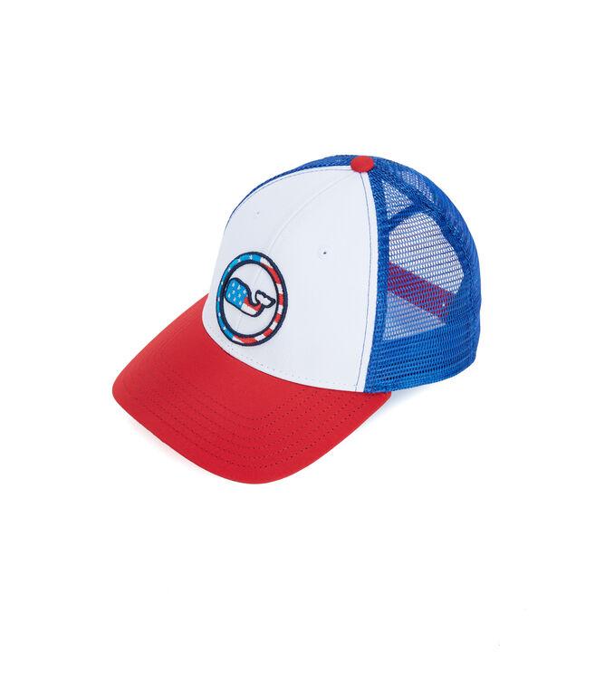 Boys Low Pro Performance Patriotic Whale Dot Hat