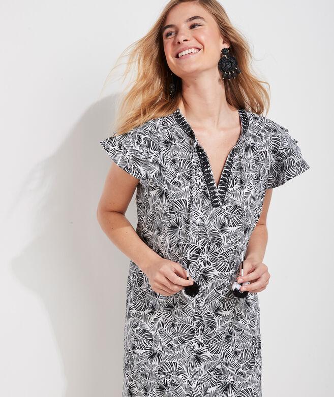 Linear Palms Vineyard Tunic Dress