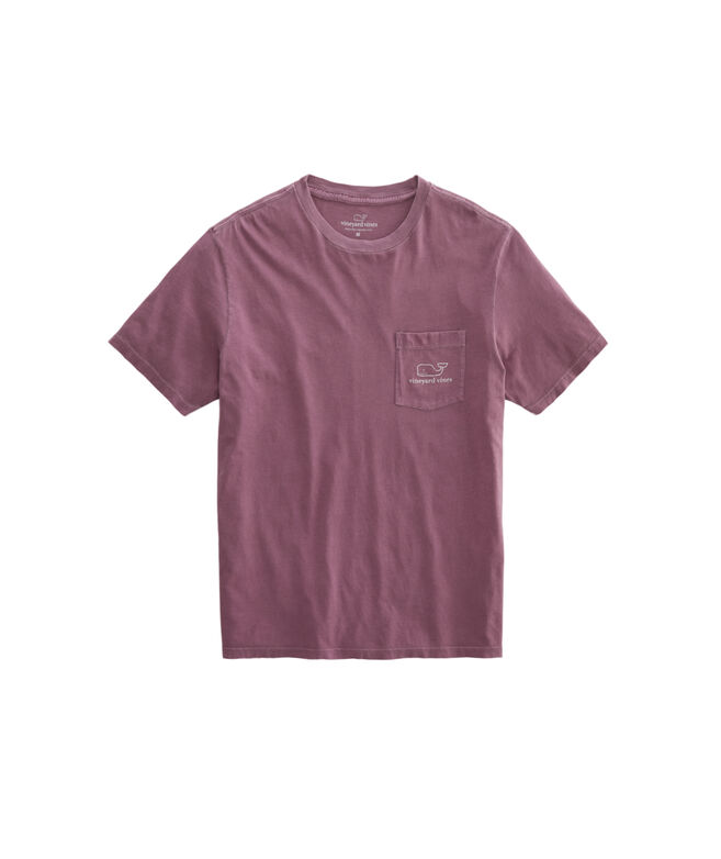 Garment-Dyed Vintage Whale Short-Sleeve Pocket T-Shirt