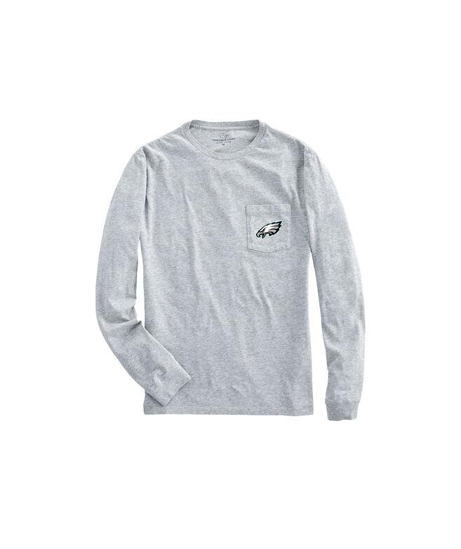 Adult Eagles Long-Sleeve Block Stripe T-Shirt