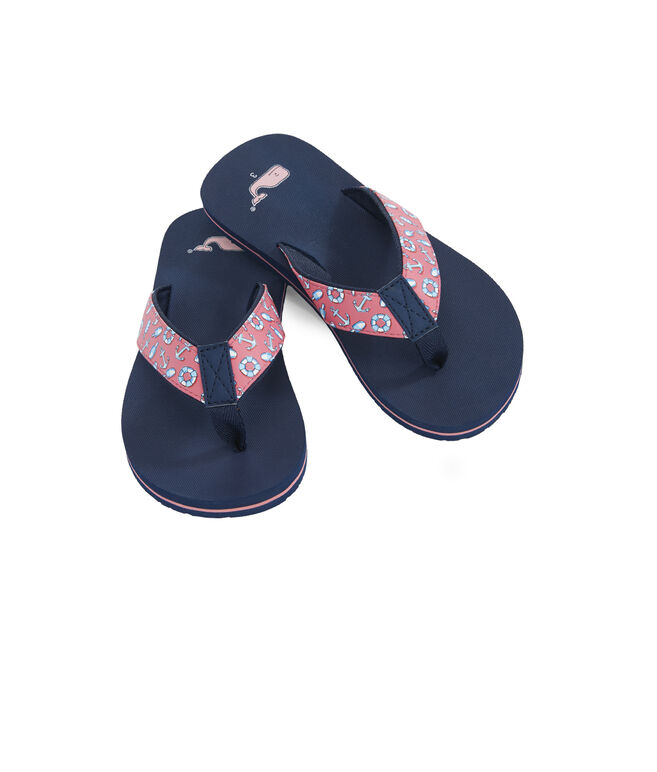 Girls Anchors And Bouys Classic Flip Flops