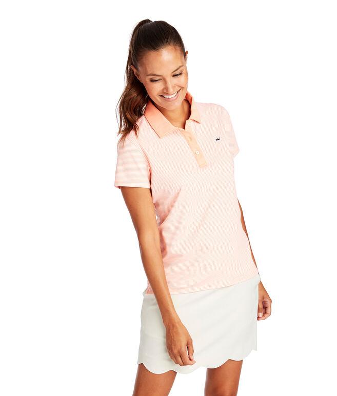 Short Sleeve Jersey Stripe Polo