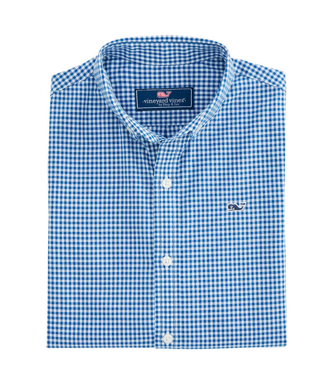OUTLET Boys' Arawak Gingham Poplin Whale Shirt
