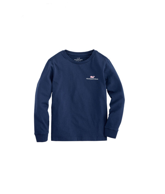 Kids Long-Sleeve VV Logo Graphic T-Shirt