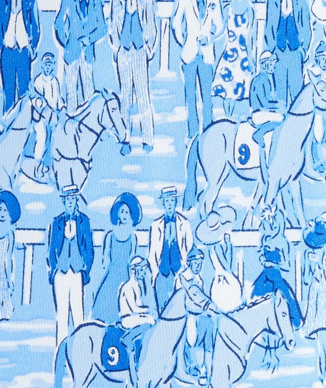 Kentucky Derby Parade Of Horses Printed Tie