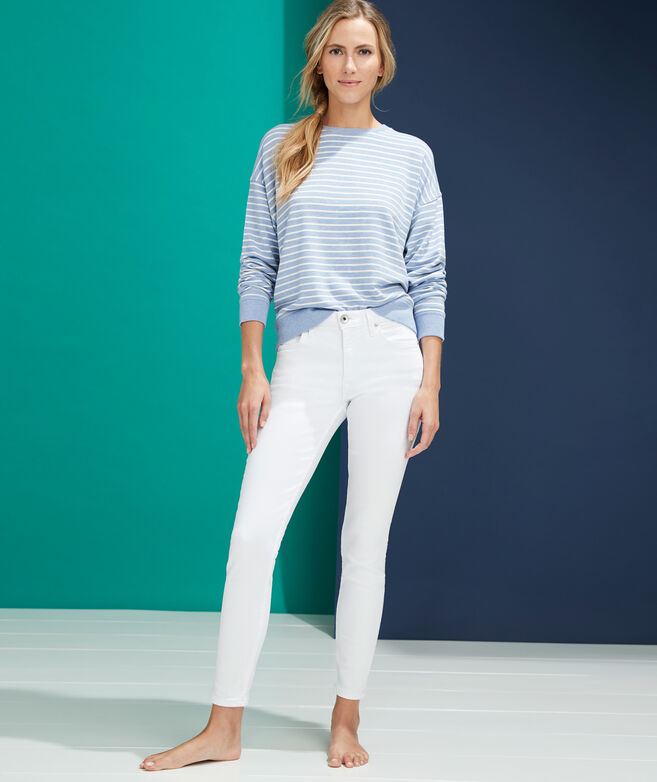 Jamie High-Rise White Jeans