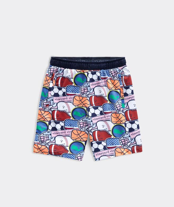 Boys' Printed Lacrosse Shorts