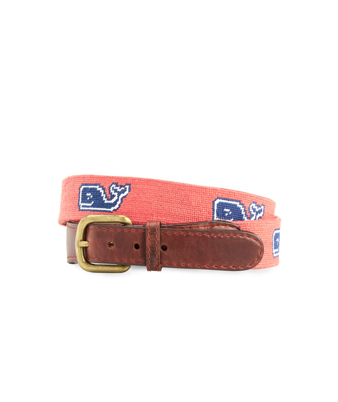 vineyard vines x Smathers & Branson Classic Whale Needlepoint Belt