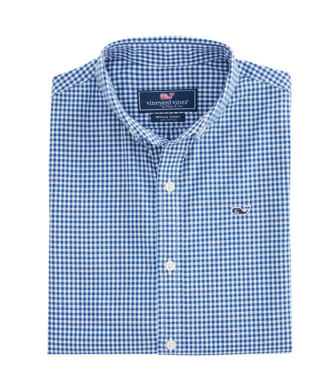Boys Arawak Gingham Whale Shirt