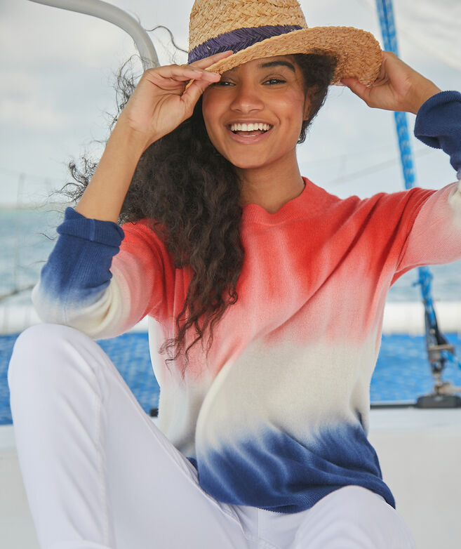 Americana Sunset Fine Gauge Cashmere Sweater