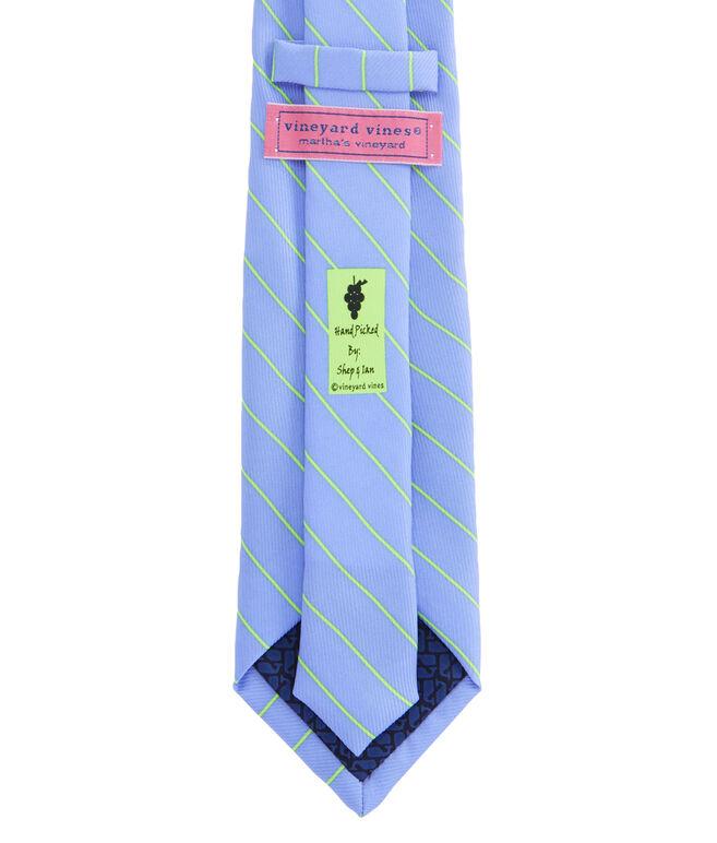 Fish Line Stripe Tie