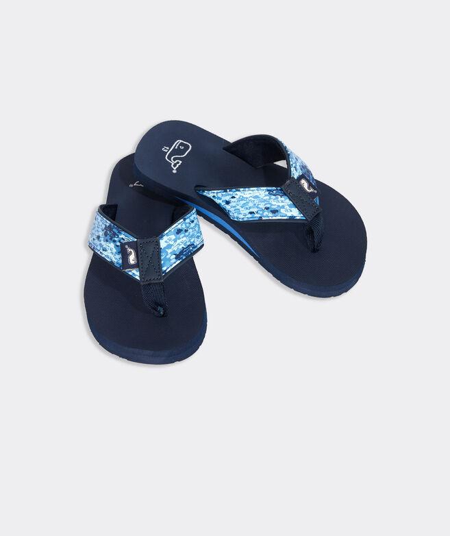 Boys' Tri-Fish Camo Classic Flip Flops