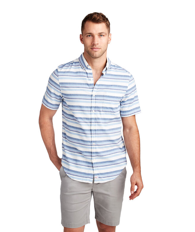 Short-Sleeve Down Harbor Beach Flannel Slim Murray Shirt