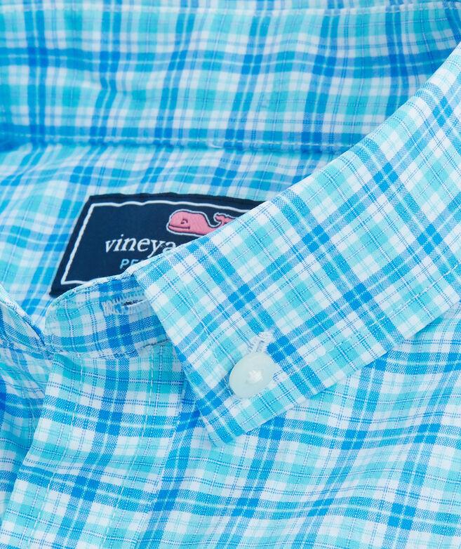 Boys Performance Small Check Whale Shirt