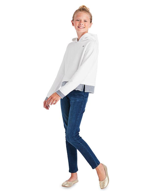 Girls Cropped Hoodie Sweatshirt