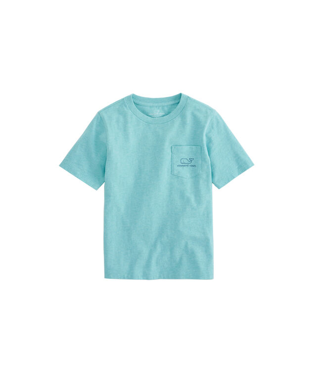 Boys Heathered Vintage Whale Pocket T-Shirt