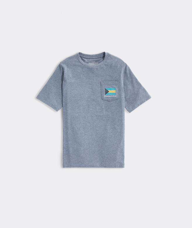 Boys' Bahama Flag Short-Sleeve Pocket Tee